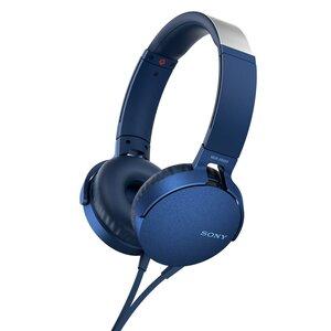 Słuchawki SONY MDR XB550AP Niebieski, Słuchawki przewodowe Media Markt