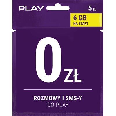 na Kartę rozmowy i SMS-y w Play za darmo 5 PLN Starter PLAY