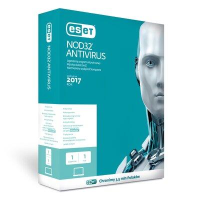 ESET NOD32 Antivirus 2017 (1 komputer, 1 rok) Program ESET