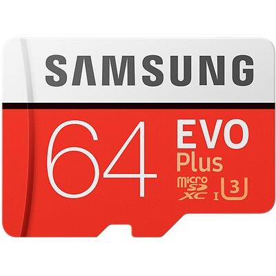 Karta pamięci SAMSUNG EVO Plus 64GB MicroSD MB-MC64GA/EU + adapter