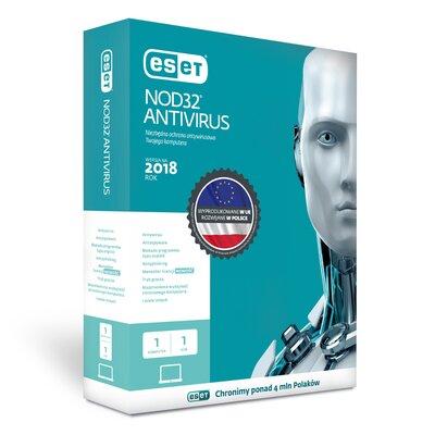 ESET NOD32 Antivirus 2018 (1 PC, 1 rok) Program ESET