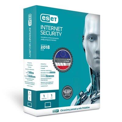 ESET Internet Security 2018 (1 PC, 1 rok, przedłużenie licencji) Program ESET