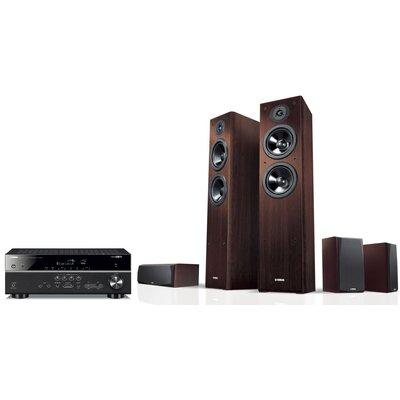 Kino domowe YAMAHA MusicCast RX-V485 Czarny + NS-F51/NS-P51 Orzech Media Markt 1379867
