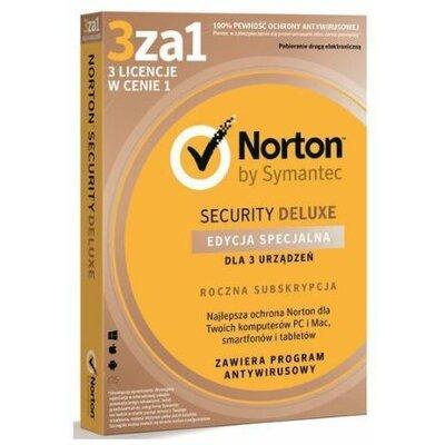Norton Security Deluxe 3.0 PL (3 stanowiska, 1 rok) Program NORTON