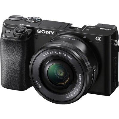 Aparat SONY Alpha A6100 (ILCE-6100) + obiektyw 16 – 50PZ mm Czarny Media Markt 1414874