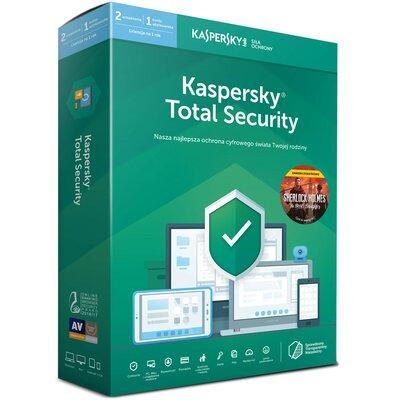 Kaspersky Total Security (2 urządzenia, 1 rok) + Sherlock Holmes the Devil's Doughter Program KASPERSKY LAB