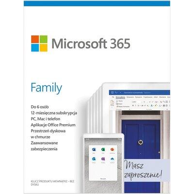 Microsoft 365 Family PL 1 rok Program MICROSOFT