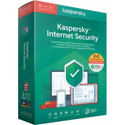 Kaspersky Internet Security - multi-device (2 stanowiska, 1 rok) + Internet Security for Android (2 stanowiska, 1 rok) Program KASPERSKY LAB
