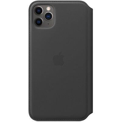 Produkt z outletu: Etui APPLE Leather Folio do iPhone 11 Pro Max Czarny MX082ZM/A